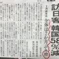 訪日韓国人激減‼ …… ああ助かりますね。