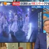 『【乃木坂46】小倉智昭氏、卒コン遅延騒動に『気になるのは、嵐フェス。嵐のファン数はもっと多い。こんなことがないように祈るばかり・・・』【とくダネ】』の画像