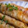 茄子の豚バラ肉巻焼き&ちょこっとミニトマト&「かめきちパパの毎日ごはん新聞掲載でした」