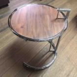 『アイリーングレイサイドテーブルの天板をバーチ材にしました』の画像