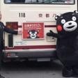 「くまモン」京都を訪れ震災支援の感謝伝える