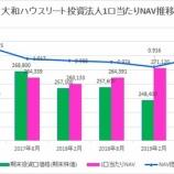 『大和ハウスリート投資法人の第27期(2019年8月期)決算・一口当たり分配金は5,773円』の画像