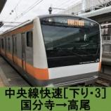 『中央線快速 車窓[下り・3]国分寺→高尾』の画像