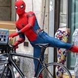 『自転車拝借。。。映画『スパイダーマン:ホームカミング』撮影現場画像&動画!』の画像