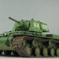1/48 タミヤ KV-1 重戦車(増加装甲型) ソビエト陸軍 製作2