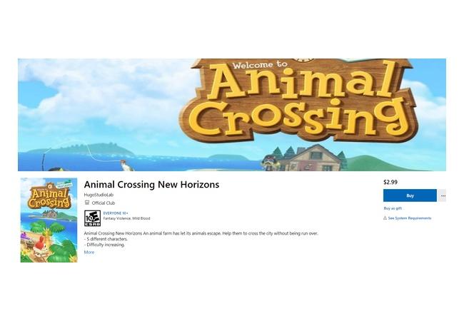 【衝撃】MSストアに「Animal Crossing New Horizons」登場!