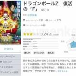 『映画「ドラゴンボール〜復活のF」客からは酷評?』の画像