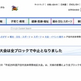 『明日の戸田市市民総合体育祭は全ブロックで中止になりました(順延無しです)』の画像