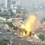 【動画】中国、またまた爆発!今度は大通り沿いの焼肉レストランがドカーンと爆発! [海外]