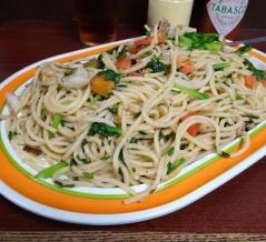 ■銀座の「ジャポネ」で、デカ盛りスパゲッティ!