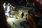 倉治で『ガス管工事』やってた@交野警察署、倉治図書館の近く
