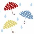 傘のイラスト素材 ハート模様