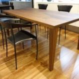 『丸亀市にシラカワのオーダーテーブル・ST-BW180・ブラックウォールナットを納品』の画像