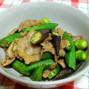 オクラと豚肉の炒め物