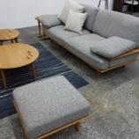 『日進木工の展示会でSofシリーズのニューソファ』の画像
