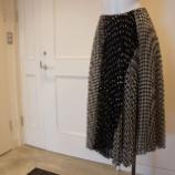 『irise(イリゼ)ドット&チェックプリーツスカート』の画像