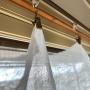 切りっぱなしリネンで作ったカーテン