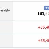 『2021年1月(35か月目)の楽天証券でのポイント投信の評価は+31,605円でした。』の画像