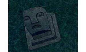 スケッチした石像の頭の表情が………