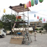 『戸田市かじや町会 8月10日の盆踊り・子ども夏祭りに向けた設営をやりました』の画像