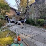 『庭木の剪定に杉の木の枝打ち』の画像