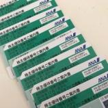 『ANAの株主優待券が届いた。たった5,000円で8枚の優待券をゲット!』の画像