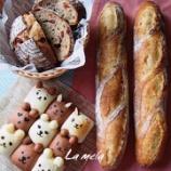 『親子レッスンの事、基礎イングリッシュマフィン、ハムロール 中級プレッツェル 上級ミルクフランス』の画像