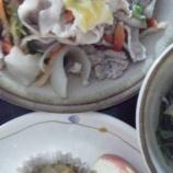 『今日のあべQは(豚肉と白菜の炒め物)』の画像