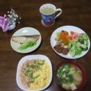 ヘルシーランチ 鶏そぼろご飯 銀鱈粕漬け 鶏肉レバー生姜煮