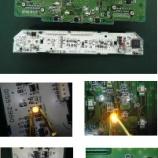 『スイフトスポーツ エアコンパネル・インフォメーションパネル LED交換(LED打ち替え)手術』の画像