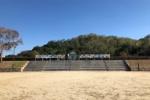 池のところになんか『作品』がめっちゃある!〜星田のリニアパーク南公園のところに旭小学校5年生の作品〜