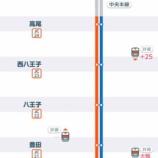 『JR中央線各駅停車運行中。御茶ノ水-神田の間で倒木のため御茶ノ水駅止まり』の画像