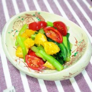 小松菜とデコポンのさっぱり酢の物