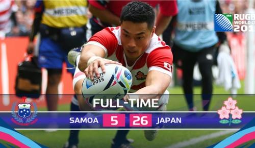 【海外の反応】ラグビーW杯 日本代表がサモアに完勝「実力を証明した」