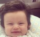 【画像】赤ちゃんなのに髪フサフサ! ネットで人気者に
