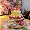 【浅草】浅草よろず茶屋444 パンケーキパフェいちごのお城