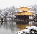 【金閣寺】うっすら雪化粧