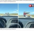 エリア51で「巨大円盤型UFO」を輸送中のトラックが撮影される! (※動画あり)