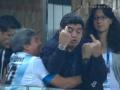 【悲報】マラドーナさん、中指を立てている姿を全世界に放映されてしまう (画像あり)