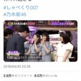 『【乃木坂46】400万再生!twitterで『しゃべくり007』のワンシーンがバズりまくってる件wwwwww』の画像