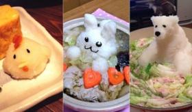 【食】  ぐぅ これは かわいい!  日本人による 大根おろしでつくった 動物達。   海外の反応