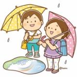 『【クリップアート】雨上がりに空を見上げる子供たちのイラスト』の画像