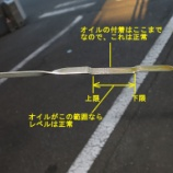 『エンジンオイルレベルの確認方法(追記)やや漫談』の画像