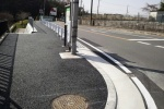 国道168号線、星の里いわふね前、歩道が整備されてる!めっちゃキレイでめっちゃ歩きやすい!!