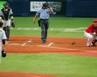 【悲報】広島・大瀬良さん、藤浪にボール当てられて怒られてた