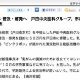 『(毎日新聞)乳がん検診:普及・啓発へ 戸田中央医科グループ、市に50万円寄贈』の画像