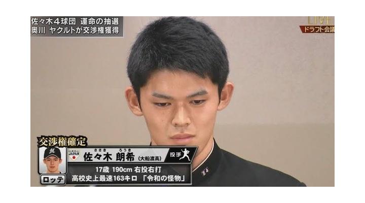 【動画】佐々木朗希さん(18)のストレートwww