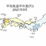 『インフラファンド・2021年9月太陽光発電所月次発電電力量実績』の画像