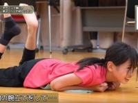 【モーニング娘。'19】岡村ほまれ、1分間の腕立てを終えて崩れ落ちる
