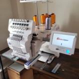 『【岐阜県高山市のお客様にHAPPY製HCH-701P-30(単頭7本針刺繍機)をお買い上げいただきました】セットアップ・使用説明をしました。本格稼働は12月からです!』の画像